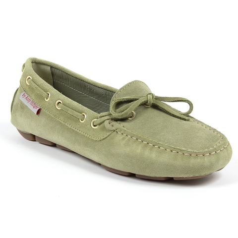 Andrew Charles Womens Loafer Green CAMILLA