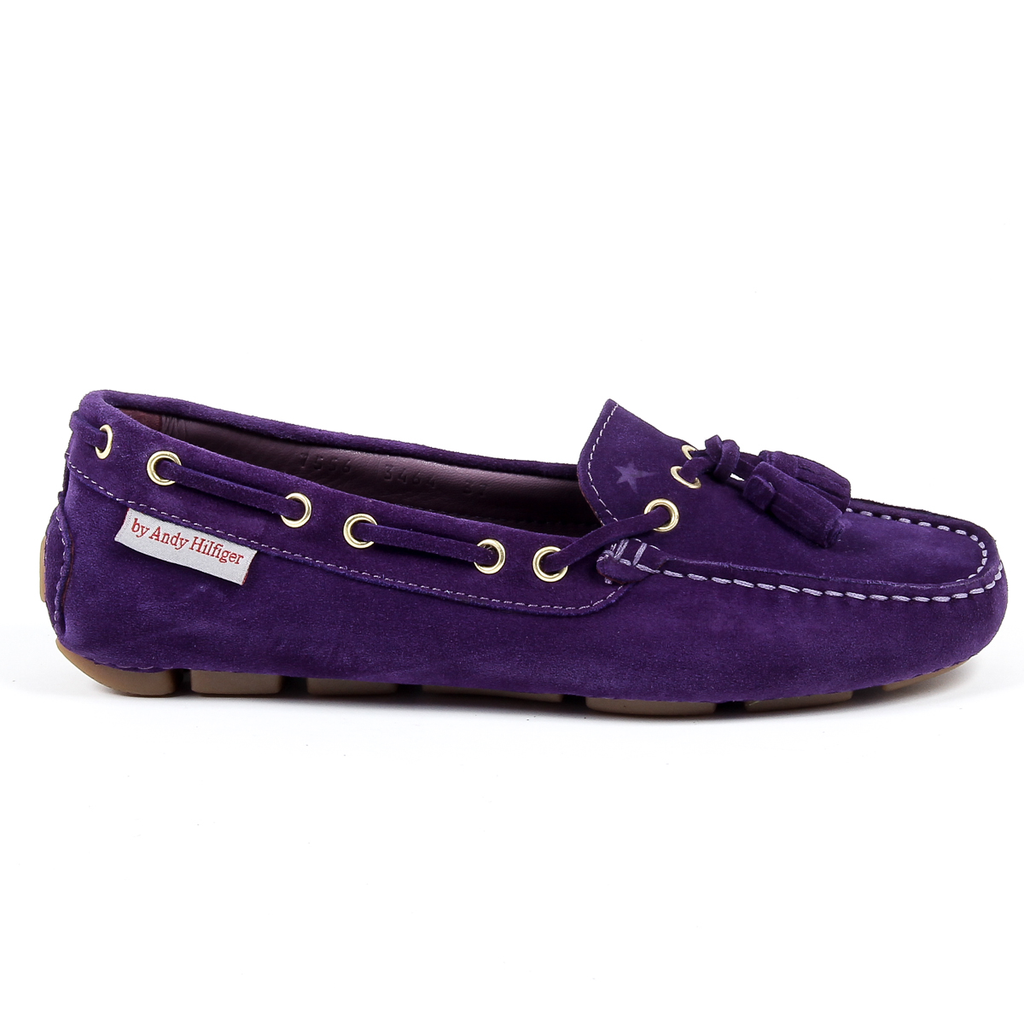 Andrew Charles Womens Loafer Purple GIULY