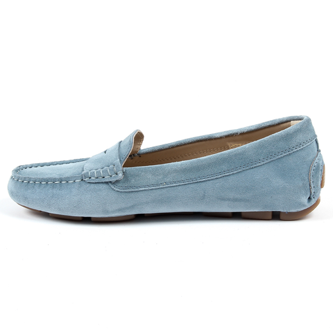 Andrew Charles Womens Loafer Light Blue MAX