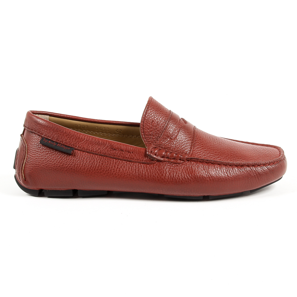 Andrew Charles Mens Loafer Dark Red JACKSON