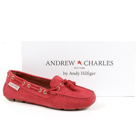 Andrew Charles Womens Loafer Red GIULY