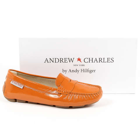 Andrew Charles Womens Loafer Orange MAX