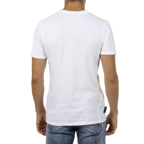 Andrew Charles Mens T-Shirt Short Sleeves Round Neck White KEITA