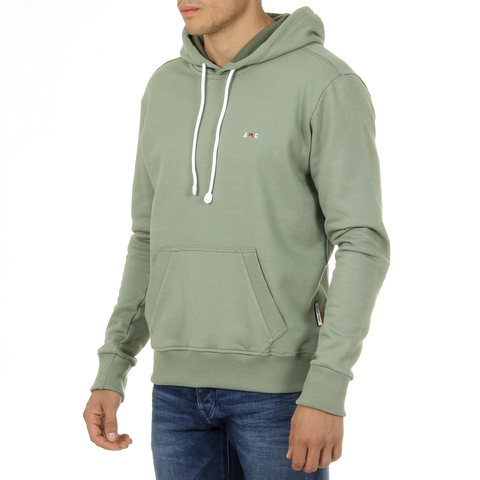 Andrew Charles Mens Hoodie Long Sleeves Round Neck Green FIFI