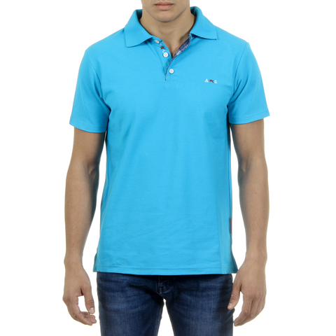 Andrew Charles Mens Polo Short Sleeves Light Blue SEMELO