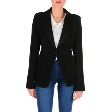 V 1969 Italia Womens Jacket Long Sleeves Black TESS