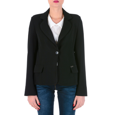V 1969 Italia Womens Jacket Long Sleeves Black ROMA