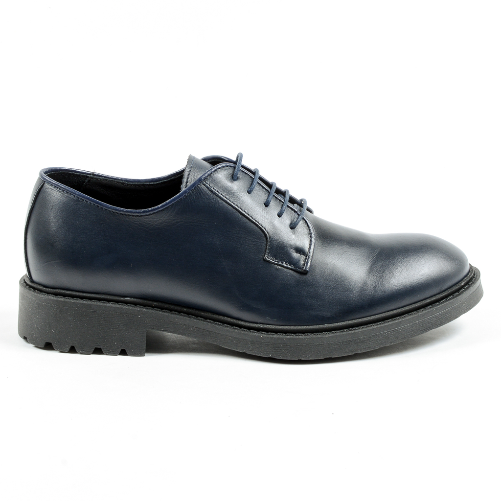 Andrew Charles Mens Lace Up Shoe Blue JIMI