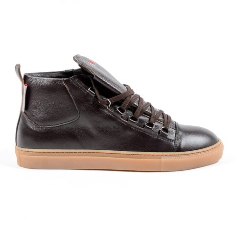 Andrew Charles Mens Sneaker Brown JEFF
