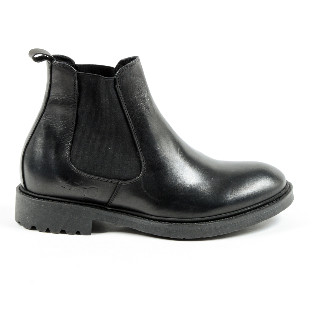 Andrew Charles Mens Ankle Boot Black KID