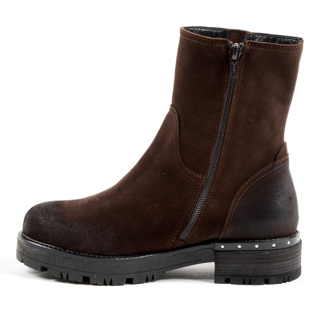 Andrew Charles Womens Short Boot Brown BONNIE