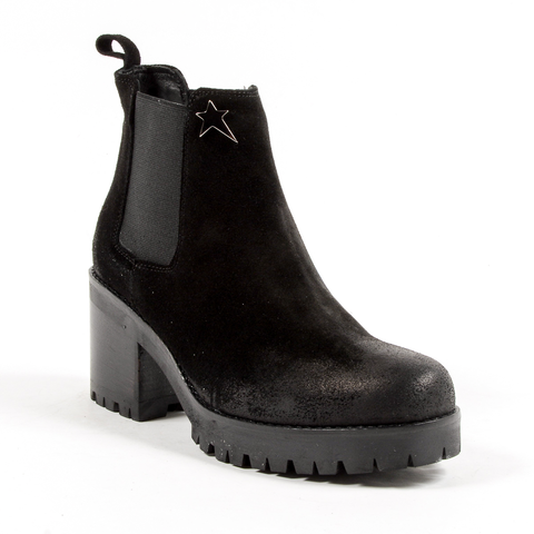 Andrew Charles Womens Ankle Boot Black WENDY