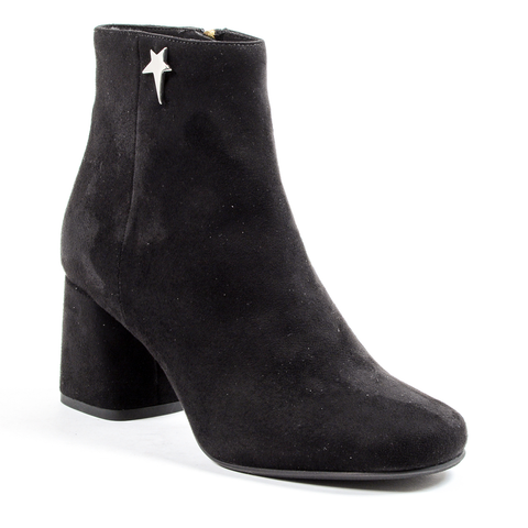 Andrew Charles Womens Heeled Ankle Boot Black DOLLY