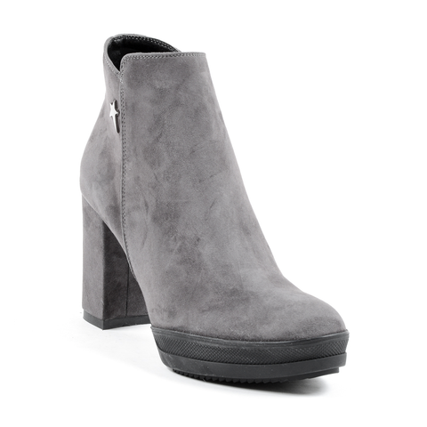 Andrew Charles Womens Heeled Ankle Boot Grey SHERYL