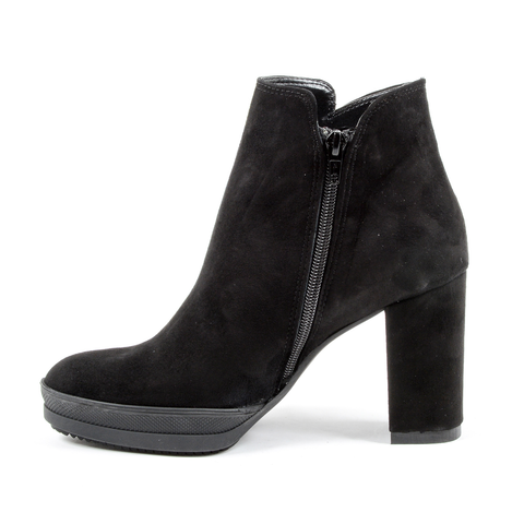 Andrew Charles Womens Heeled Ankle Boot Black SHERYL