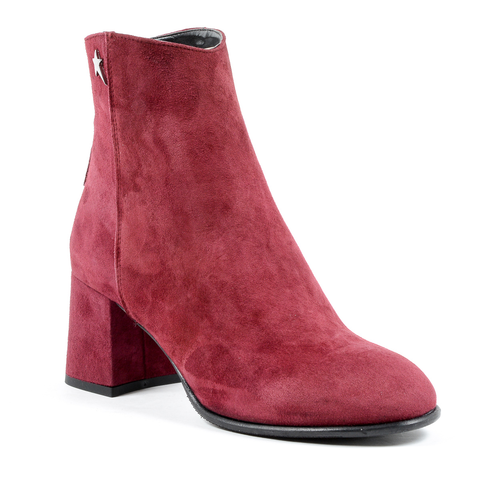 Andrew Charles Womens Heeled Ankle Boot Bordeaux LINDA