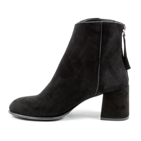 Andrew Charles Womens Heeled Ankle Boot Black LINDA