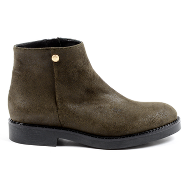 V 1969 Italia Womens Ankle Boot Dark Green TILLY