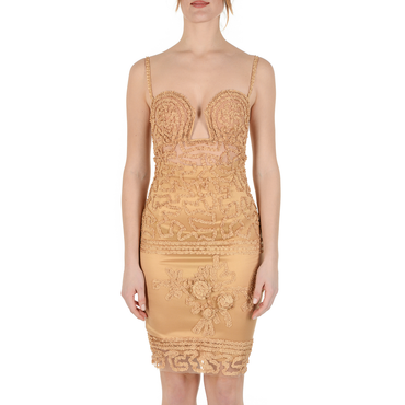 Createur La Perla Womens Dress Beige