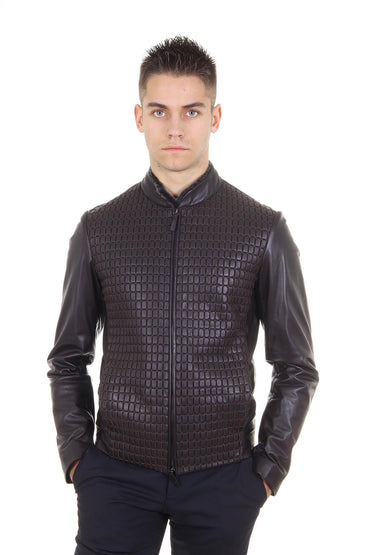 Armani Collezioni mens leather jacket SCR03P SCP01 650