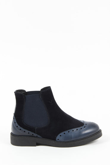 V 1969 Italia Mens Ankle Boot V7015 NAVY