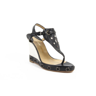 Clements Riberio Womens Wedge Sandal SKIROS GLOVE NERO