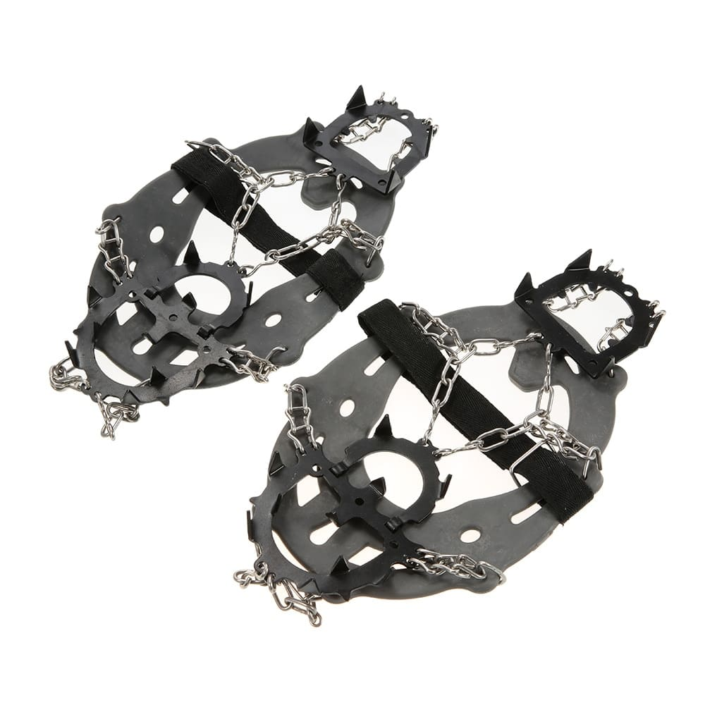 2pcs 14-Teeth 2 Color Sports Anti-Slip Ice Gripper Cleats Shoe for Hiking Climbing