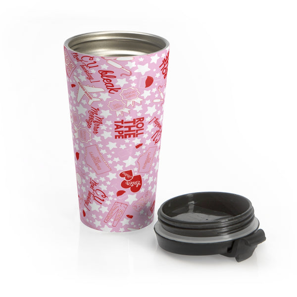 This stainless steel LadyGang Inside Joke travel mug is the perfect way to keep your coffee or tea piping hot, with no spilling
