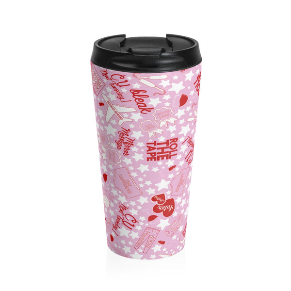This LadyGang travel mug is made of stainless steel and insulated to keep the tea (or coffee) piping hot