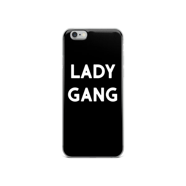 Black and White LadyGang Logo iPhone Case for iPhone 6