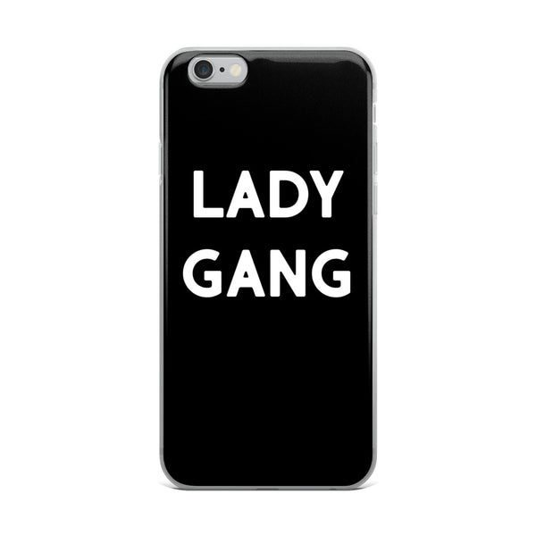 This LadyGang Logo Phone Case protects your iPhone in sleek black