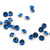 Swarovski® Chaton Pointed Back - Capri Blue - 4mm - 24pcs