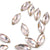 Swarovski® Navette Flat Back - Vintage Rose - 8x3.5mm - 8pcs