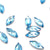 Swarovski® Navette Flat Back - Aquamarine - 8x3.5mm - 8pcs