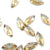 Swarovski® Navette Flat Back - Golden Shadow - 8x3.5mm - 8pcs