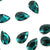 Swarovski® Pear Flat Back - Emerald - 8x5mm - 8pcs