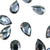 Swarovski® Pear Flat Back - Graphite - 8x5mm - 8pcs