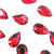 Swarovski® Pear Flat Back - Scarlet - 8x5mm - 8pcs
