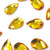 Swarovski® Pear Flat Back - Sunflower - 8x5mm - 8pcs