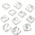 Swarovski® Square Chessboard Flat Back - Clear Crystal - 8mm - 4pc