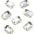 Swarovski® Emerald Cut Flat Back - Clear Crystal - 8x5.5mm - 6pcs