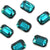 Swarovski® Emerald Cut Flat Back - Emerald - 8x5.5mm - 6pcs
