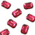 Swarovski® Emerald Cut Flat Back - Scarlet - 8x5.5mm - 6pcs