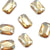 Swarovski® Emerald Cut Flat Back - Golden Shadow - 8x5.5mm - 6pcs