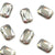 Swarovski® Emerald Cut Flat Back - Silver Shade - 8x5.5mm - 6pcs