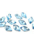 Swarovski® Rhombus Flat Back - Aquamarine - 10x6mm - 6pcs