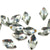 Swarovski® Rhombus Flat Back - Black Diamond - 10x6mm - 6pcs