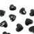 Swarovski® Heart Flat Back - Jet Black - 6mm - 12pcs