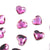 Swarovski® Heart Flat Back - Fuchsia - 6mm - 12pcs