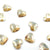 Swarovski® Heart Flat Back - Golden Shadow - 6mm - 12pcs